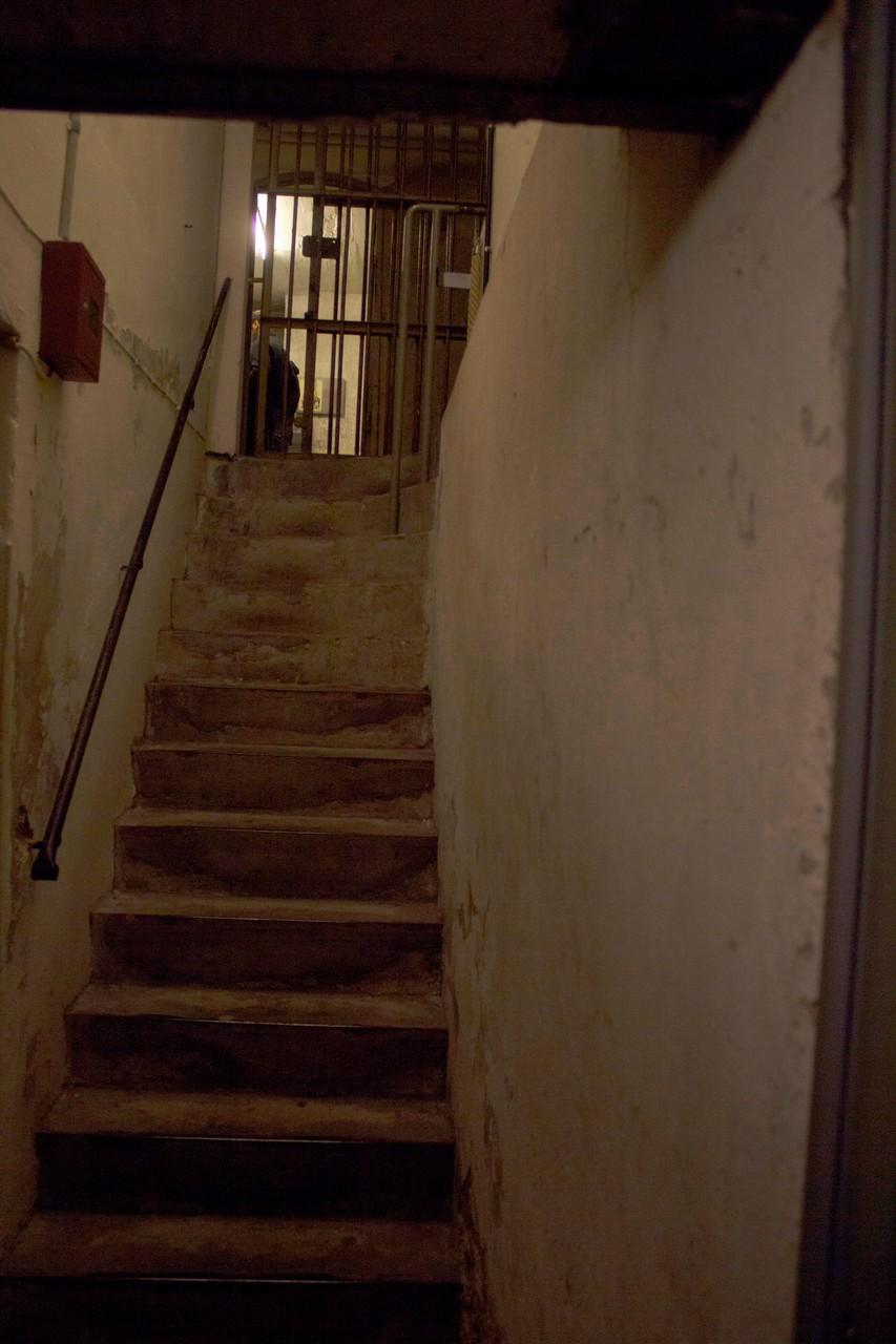 Entrata nel sotterraneo delle carceri