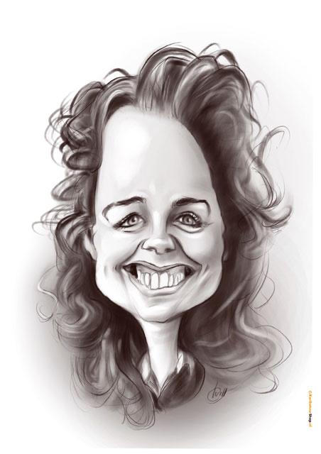 karikatuur zwart wit