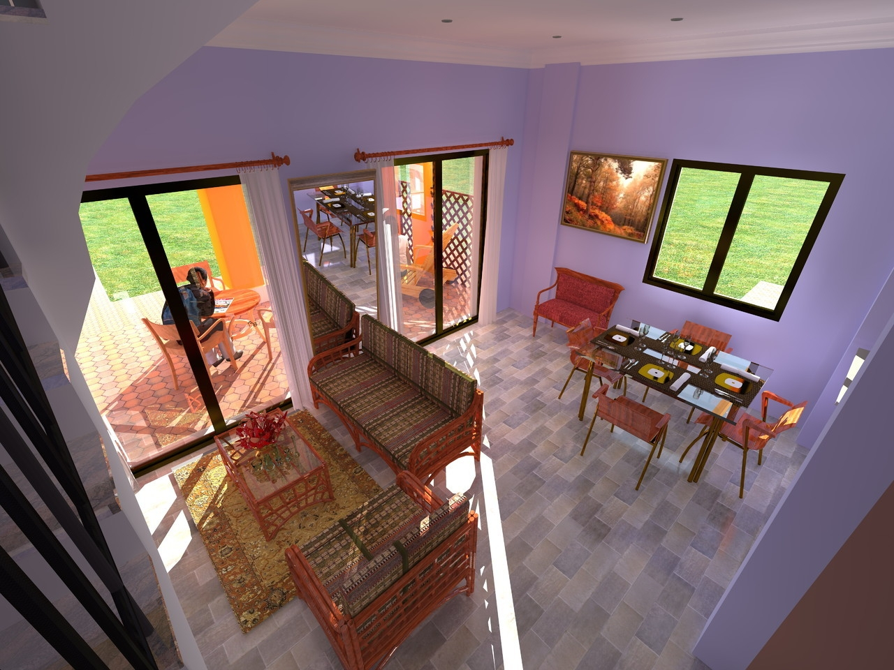 """Vista interior de villa """"Greenfield"""".  Villas desde 100.000€"""