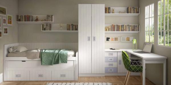 Dormitorio lacado en blanco