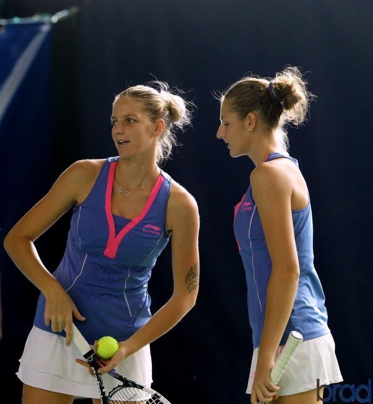 Karolina et Kateryna PLISKOVA