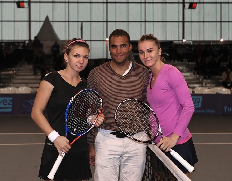 Simona HALEP, Steeve DANCHET et Karolina SPREM