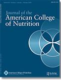 Cover Journal of American College of Nutrition: Veröffentlichung von 4sigma