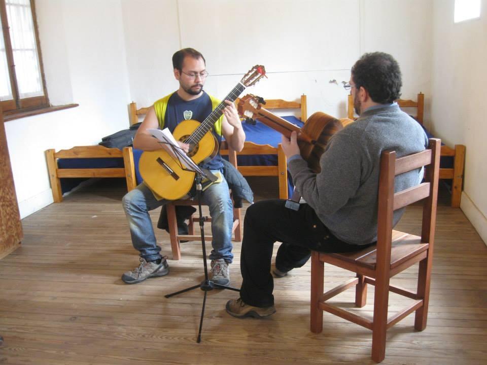 Dando clases en el Festival Andes y Sierras 2013