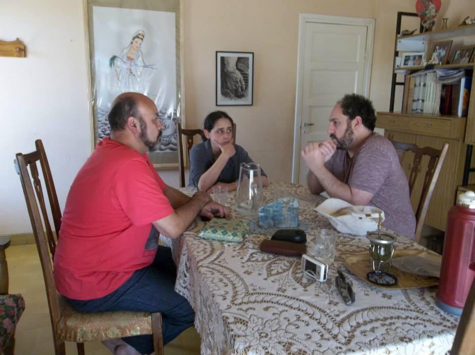 con Arturo Zeballos y Florencia Thomas haciendo sobremesa en Córdoba