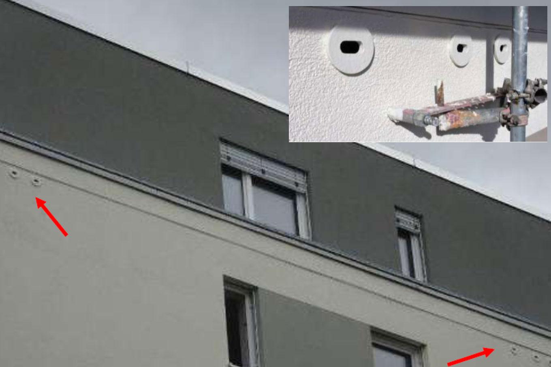 Doppelhaus Sanierung in Rödelheim: In jedes der 7 Häuser integrierten wir 9 Nistplätze. Foto: Ingolf Grabow