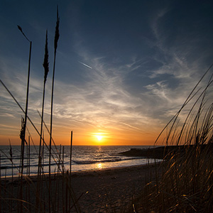 Last Light, Sunset at the North Sea Beach, Holland, Netherland, Europe