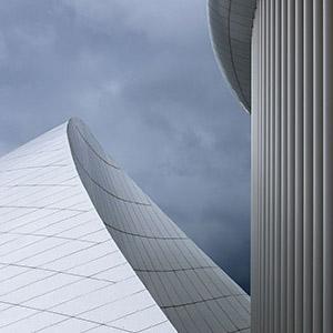 Luxembourg Philharmonie, Modern Architecture, White Columns, Europe