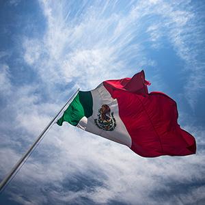 Giant Mexican Flag in Pueblo, Mexico