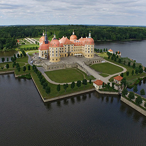 Moritzburg Watercastle Historical Building, DJI Phantom, Drone, Saxony, Germany