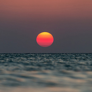 Beautiful Sunset, Caribbean Ocean, Holbox, Yucatan, Mexico