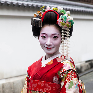 Heiko Geisha in Traditional Outfit, Kyoto, Japan, Asia