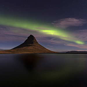 Kirkjufell Mountain, Snaefellsnes Aurora Borealis Northern Lights, Iceland
