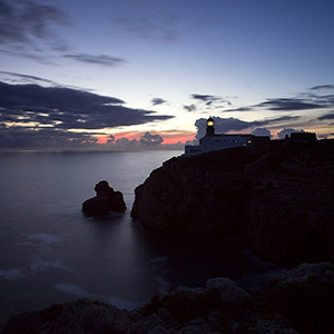 End of Europe with Lighthouse, Algarve Coast, Long Exposure, Portugal, Atlantic Ocean, Europe