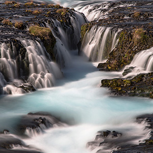 Hraunfossar - waterfall with beautiful colors and cascades, Iceland,, Scandinavia