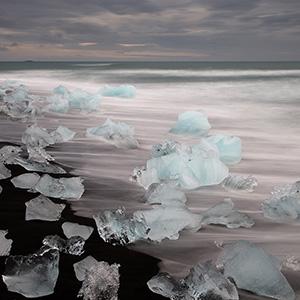 Diamond Beach, Jökusarlon Glacier Lagoon, Austurland, Iceland, Europe