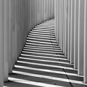Luxembourg Philharmonie, Modern Architecture, White Columns and Shadows, Europe