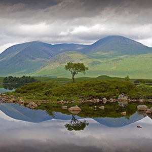Lake Reflection, Loch Lochmond, Highlands, Scotland, United Kingdom