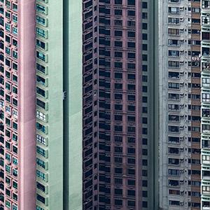 Hongkong Appartement Buildings, Creative Balcony, Skyscraper, China, Asia