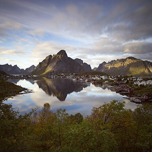 Reine - beautiful fishermen village on the Lofoten Islands, Norway, Scandinavia