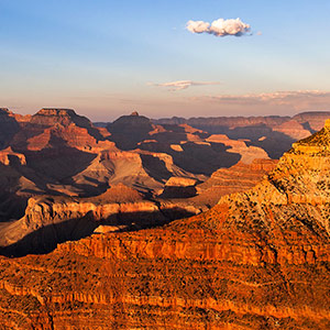 Grand Canyon Red Colors Sunset, National Park, Arizona, USA