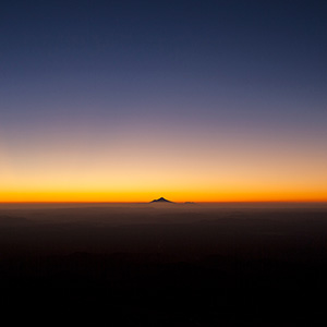Mount Taranaki, Mount Eggmont at Sunset, Northern Island, New Zealand