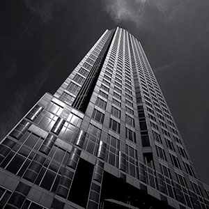 Black and White, Triplex Messeturm Skyscraper Picture, Frankfurt Skyline, Germany, Europe