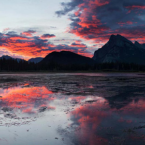 Vermillion Lakes Sunrise, Banff National Park, Alberta, Canada
