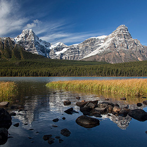 Lower Waterfowl Lake Sunshine, Banff National Park, Alberta, Canada