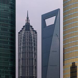 Skyscraper of the Shanghai Skyline, China, Asia