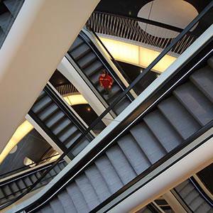 Escalator in a Shopping Mall, My Zeil Galerie, Frankfurt, Germany, Europe