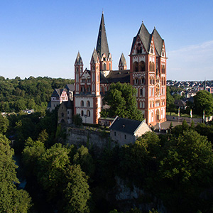 Limburg Dom, Romanic Cathedral, Lahn River, DJI Phantom 3, Drone, Hessen, Germany