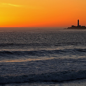 Pigeon Point Lighthouse Sunset, Pacific Ocean, California, USA