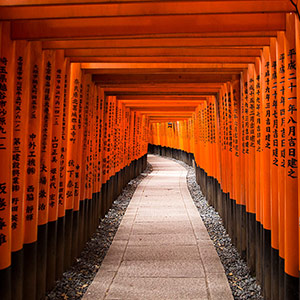 Fushimi Inari Taisha Shrine, Thousand Tori Temple, Kyoto, Japan, Asia