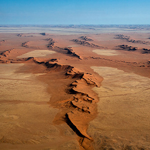 Africa, Dunes fields of the Namib Desert seen from a scenic flight, Namibia Naukluft, Namibia, Africa