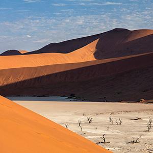 Dead Vlei, old trees and san dunes in Sossusvlei, Namib Desert, Namibia, Africa