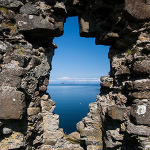 The Hole, Ruins of a castle, Isle of Skye, United Kingdom