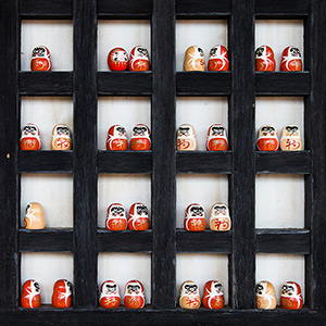 Lucky Symbols, Miniatures in a Shrine, Temple in Kyoto, Japan, Asia