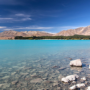 Lake Tekapo Turquoise Mountain Lake, Southern Alps, New Zealand
