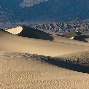 Dune field with the Sierra mountains Stovepipe wells in the Death Valley National Park USAWorld Photography Gallery