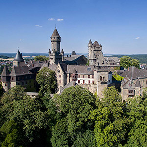 Braunfels Castle, Historical Castle located on a Hill, DJI Phantom 3, Drone, Hessen, Germany, Europe