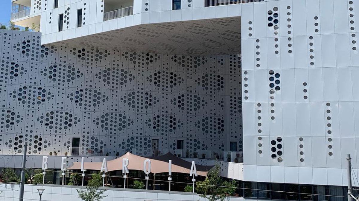 Une terrasse-cocon à l'Hôtel Belaroïa à Montpellier