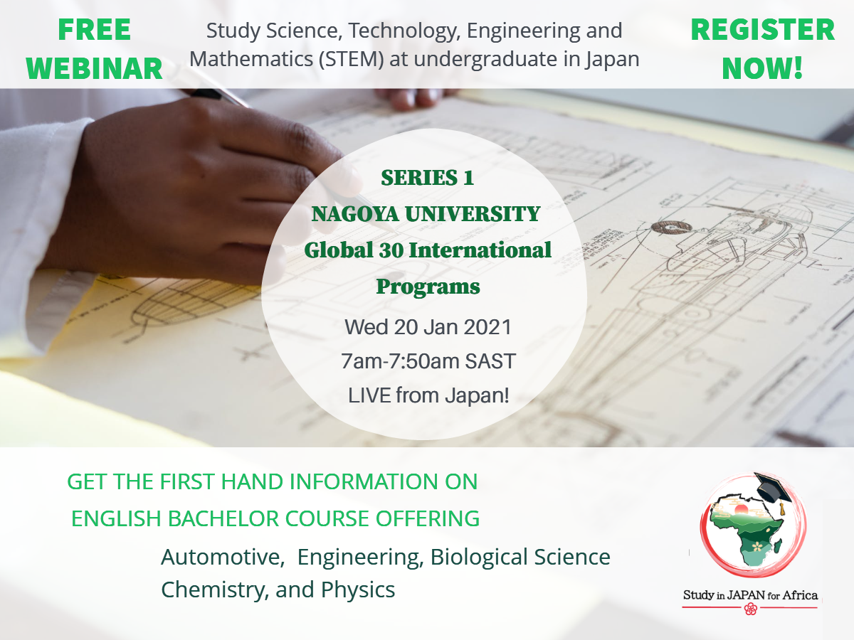 [Webinar Series 1] Study Science, Technology, Engineering, and Mathematic (STEM) at undergradute in Japan