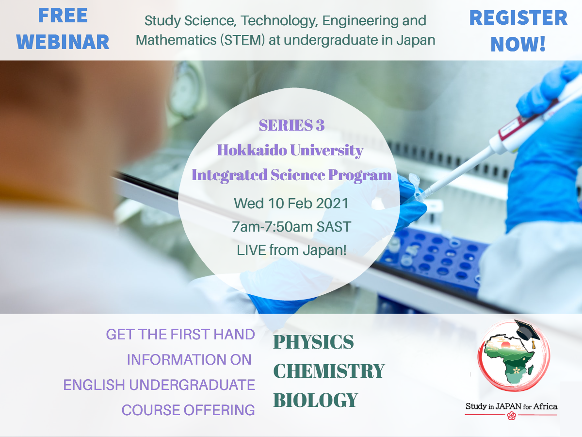 [Webinar Series 3] Study Science, Technology, Engineering, and Mathematic (STEM) at undergradute in Japan
