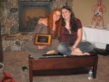 Carla Tonella con Vianna Stibal -Foto dal Masters -  AGOSTO 2010 - all'Institute Knowledge a Idaho Falls, ID, USA