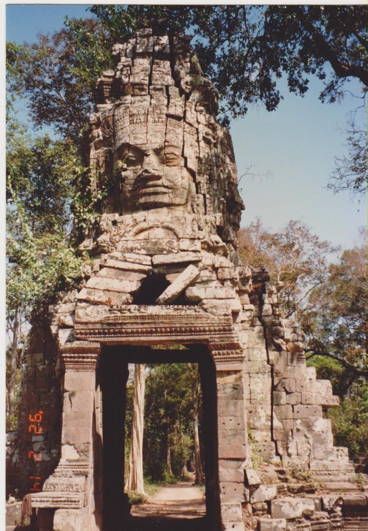 Cambogia - Ankgor Thom - porta faccia