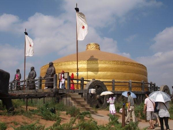 mongolia - ricostruzione carro di Gengiz Khan