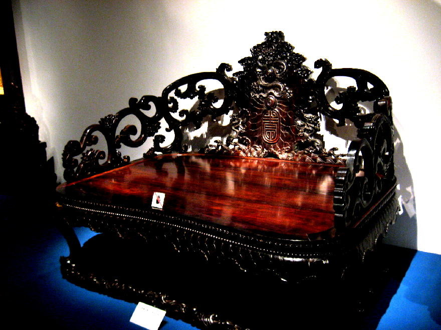dinastia Qing - trono imperiale
