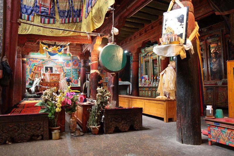 Ladak - monastero Tiksey - interno