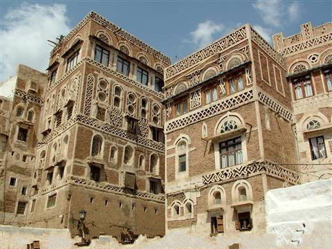 Yemen - Sana'a - case di terra decorate